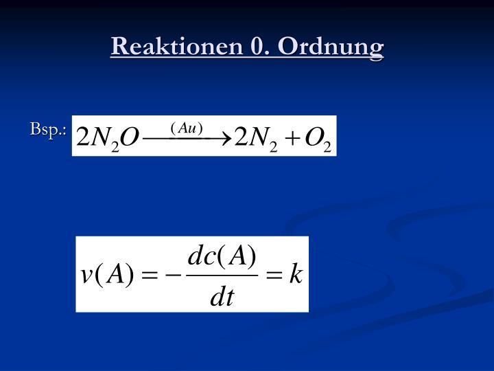 Reaktionen 0. Ordnung