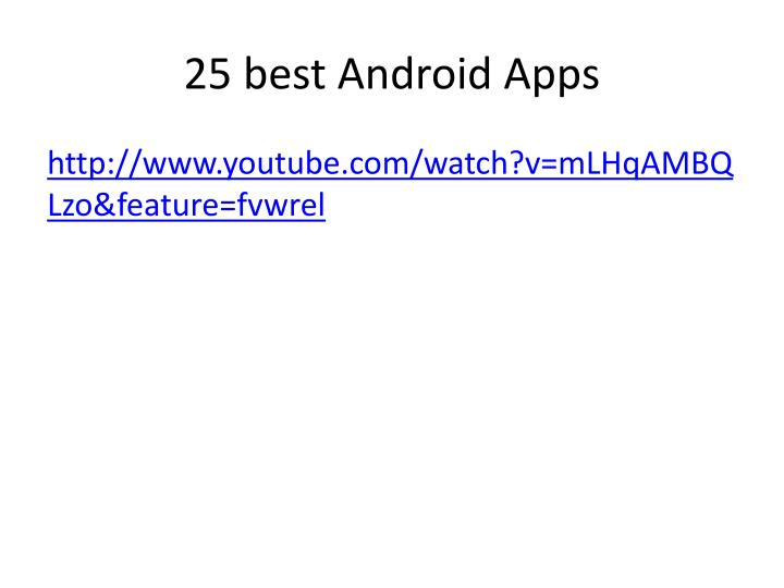 25 best android apps