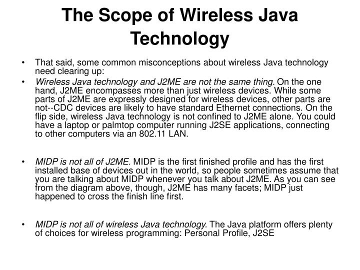 The Scope of Wireless Java Technology