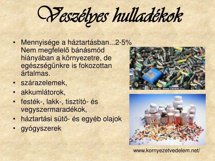 Veszélyes hulladékok