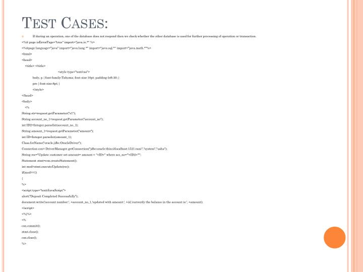 Test Cases: