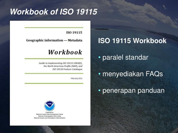 Workbook of ISO 19115