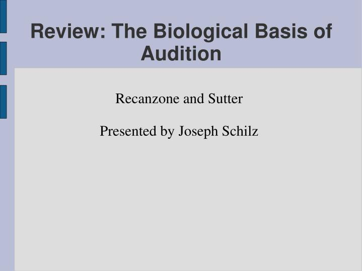 recanzone and sutter presented by joseph schilz n.