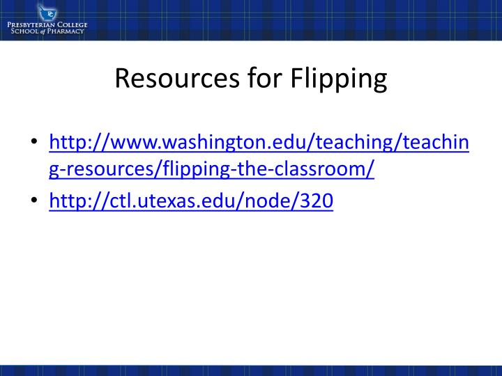 Resources for Flipping