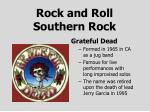 rock and roll southern rock