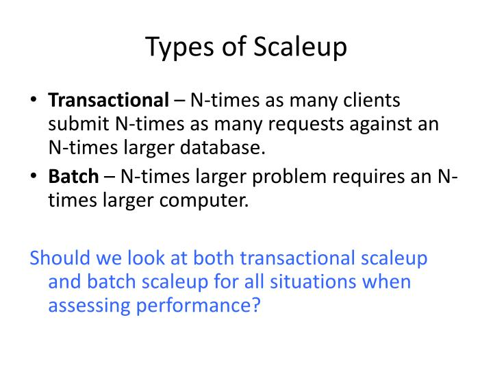 Types of Scaleup