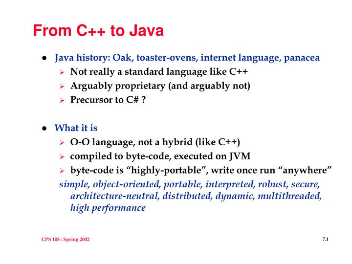 from c to java n.