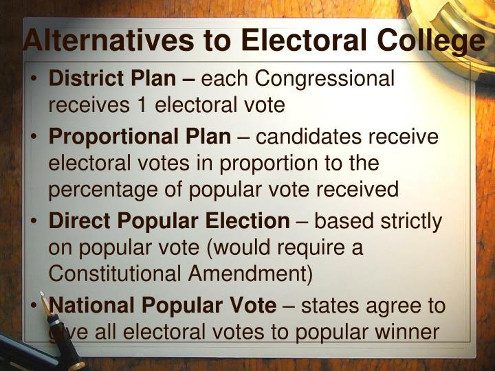 Alternatives to Electoral College