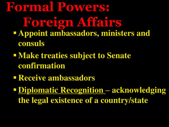 Formal Powers: