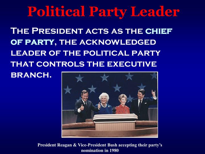 Political Party Leader