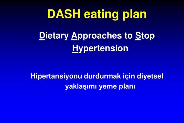 DASH eating plan