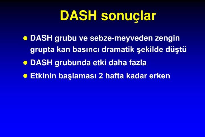DASH sonuçlar