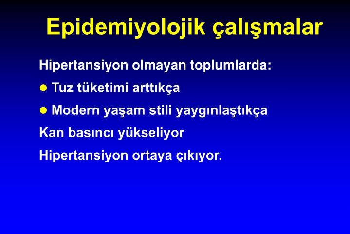 Epidemiyolojik çalışmalar