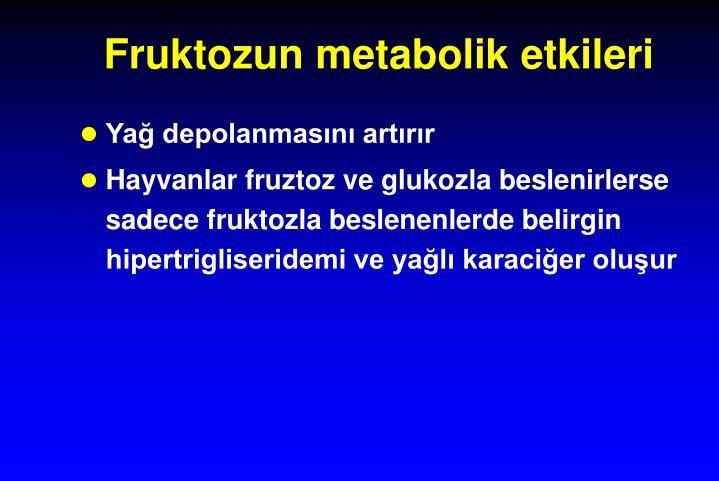 Fruktozun metabolik etkileri