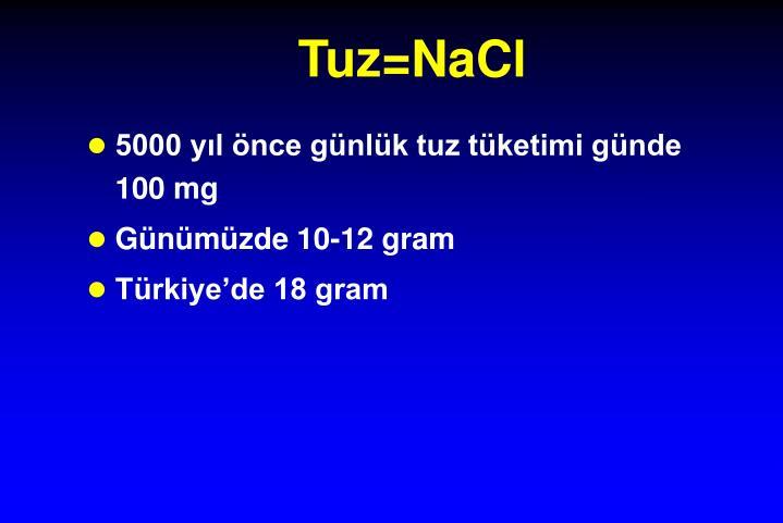 Tuz=NaCl