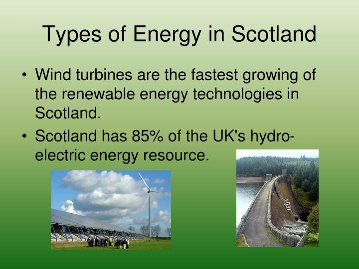 Types of Energy in Scotland