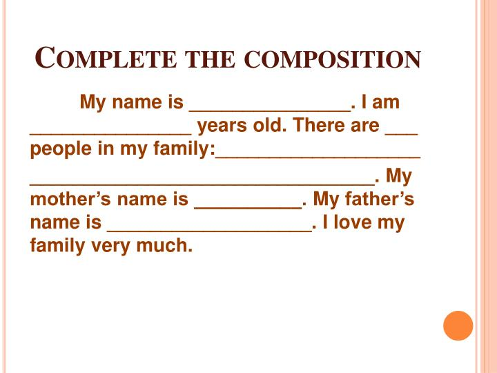 composition of my mother