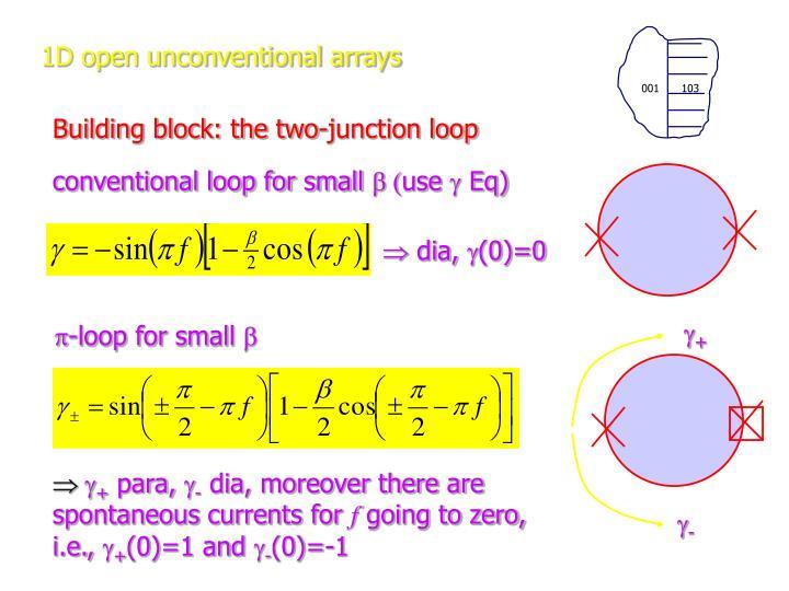 1d open unconventional arrays