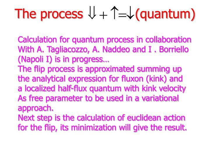 The process             (quantum)