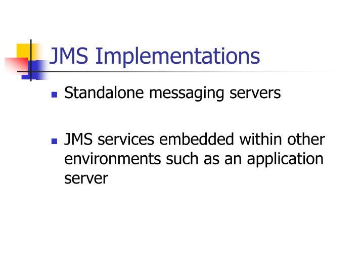 JMS Implementations