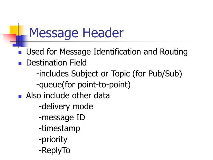 Message Header