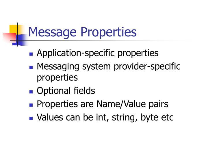 Message Properties