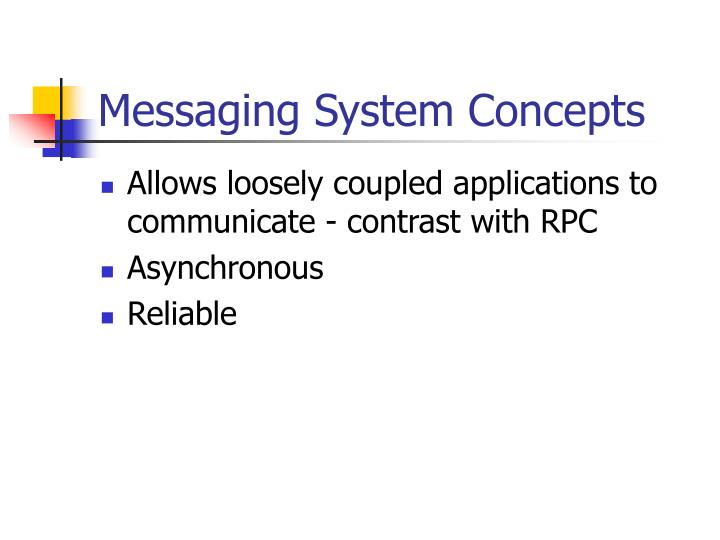 Messaging system concepts