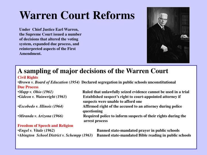 Warren Court Reforms