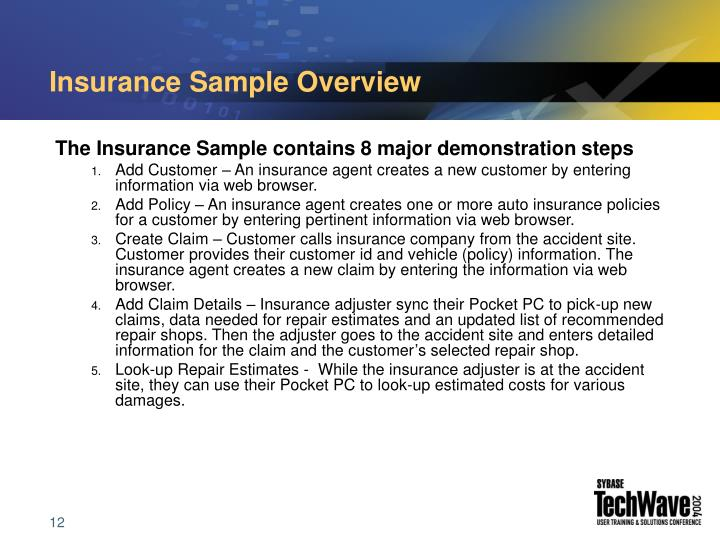 Insurance Sample Overview