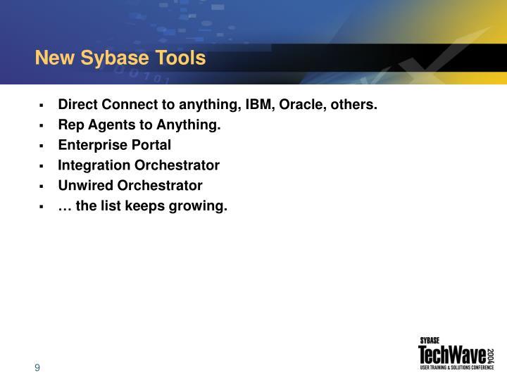 New Sybase Tools