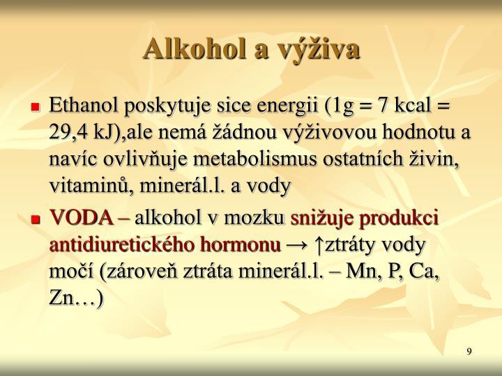 Alkohol a výživa