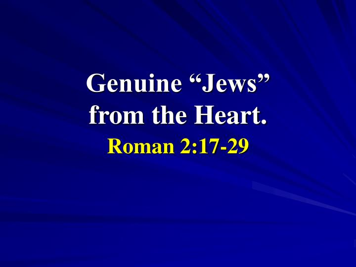 genuine jews from the heart n.
