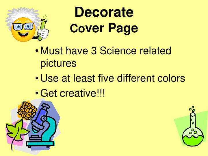 Decorate co ver page