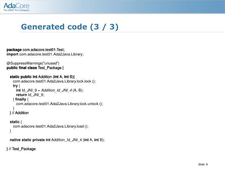 Generated code (3 / 3)