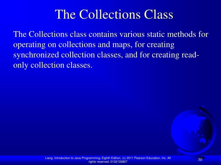 The Collections Class