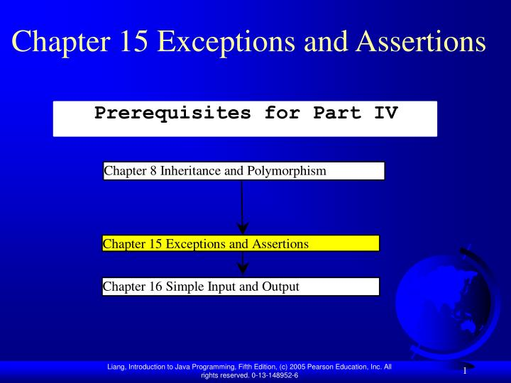 chapter 15 exceptions and assertions n.