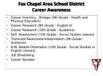 fox chapel area school district career awareness