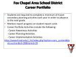 fox chapel area school district career portfolio