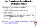 fox chapel area school district graduation project