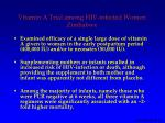 vitamin a trial among hiv infected women zimbabwe