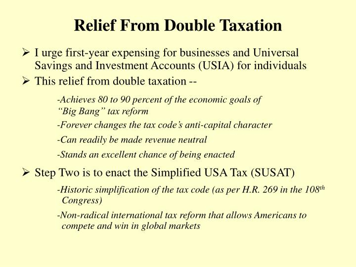 Relief from double taxation
