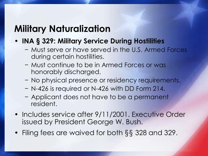 Military Naturalization