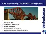 what we are doing information management3