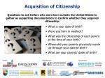 acquisition of citizenship11