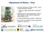 adjustment of status fees