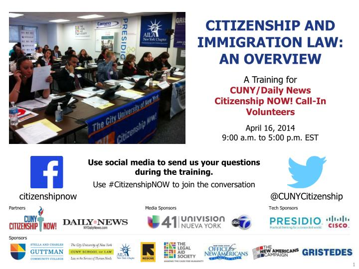citizenship and immigration law an overview n.