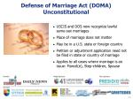 defense of marriage act doma unconstitutional