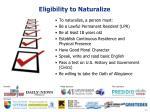 eligibility to naturalize
