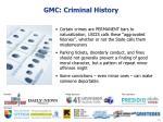 gmc criminal history1