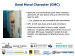 good moral character gmc